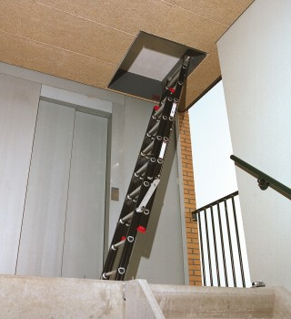 Mounter 2-delige liftmachinekamerladder
