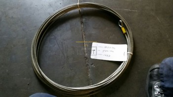18,5 meter 5mm draaiarme kabel 19x7 1xpunt 1xpuntkous (outlet)