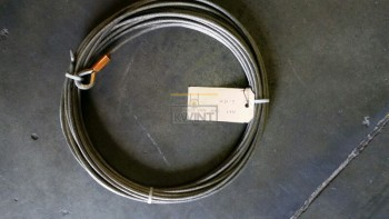 15 meter 5mm draaiarme kabel 19x7 1xpunt 1xpuntkous (outlet)