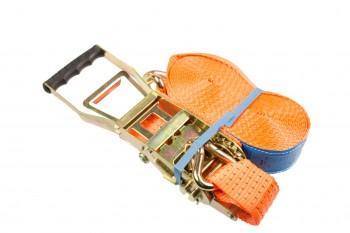 Sjorbandset 2-delig 50mm 9m met haken en trekratel 5T