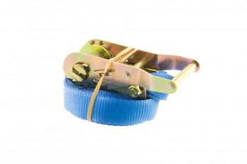 Sjorbanden 25mm blauw 1 delig met open ratel