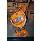 KITO HANDKETTINGTAKEL CB-025 WLL 2,5T 3M HIJS (outlet)